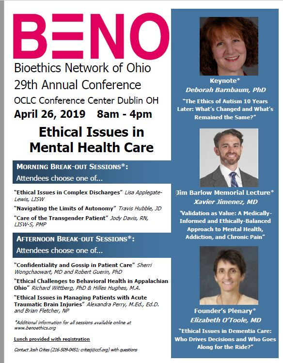 BENO 2019 Conference Info
